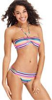 California Waves Swimsuit, Striped Halter Bikini Top