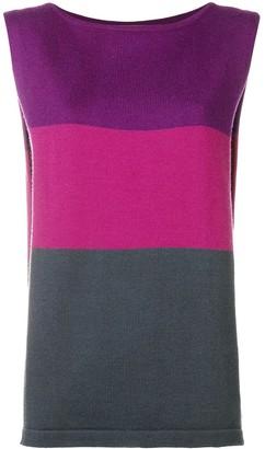 Yves Saint Laurent Pre Owned 1980's Colour Block Top