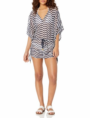 Luli Fama Women's EL Malecon Cabana V-Neck Dress Cover up Swimwear