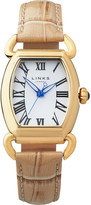 Links of London Driver Ellipse yellow-gold plated watch