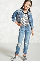 Forever 21 FOREVER 21+ Girls Distressed Jeans (Kids)