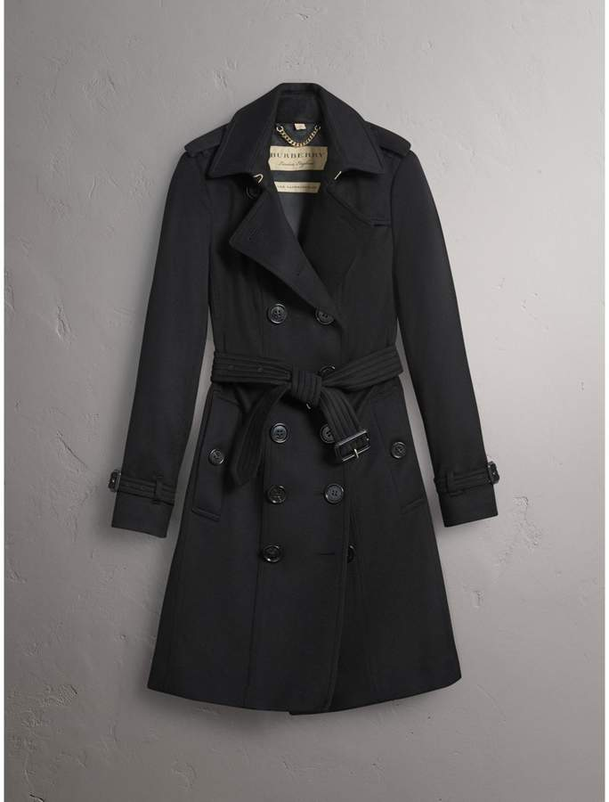 Burberry Sandringham Fit Cashmere Trench Coat