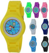 TimerMall Fashion Children Boys Girls Kids Students Silicone Rubber Analog Quartz Time Teacher Watch