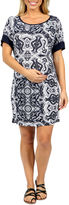 24/7 Comfort Apparel Starlight Shift Dress-Plus Maternity