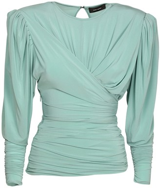 Isabel Marant Gimli Ruched Stretch Jersey Top