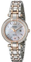 Seiko Women's SUT184 Diamond-Accented Two-Tone Stainless Steel Watch with Link Bracelet