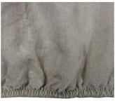 Linoto Belgian Eco Linen Fitted Sheet Deep Pocket Elastic All Around, Natural