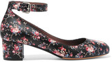 Tabitha Simmons Martha Floral-print Leather Pumps - Black