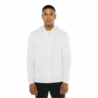 American Apparel Unisex Adult Peppered Fleece Long Sleeve Zip Hoodie Hooded Sweatshirt