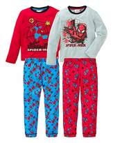 Spiderman Pack of Two Pyjamas