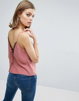 Asos Cami with Lace Plunge & Tie Back