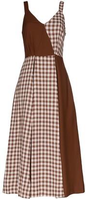 REJINA PYO Check Panel Midi Dress