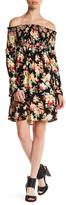 Velvet Torch Off-the-Shoulder Floral Dress
