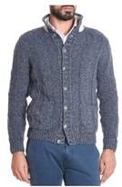 H953 Men's Blue Wool Cardigan.