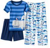 Carter's Boys 4-12 Whale 3-Piece Pajama Set