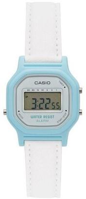 Casio Women's White and Blue Digital Watch