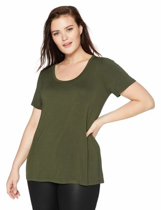 Daily Ritual Women's Plus Size Jersey Short-Sleeve Scoop Neck Shirt 2X
