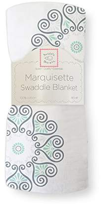 Swaddle Designs Marquisette Swaddling Blanket, Premium Cotton Muslin, SeaCrystal Medallions