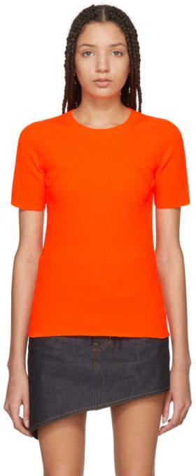 Helmut Lang Orange Essential Pullover