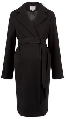 Dorothy Perkins Womens Dp Maternity Black Wrap Coat, Black