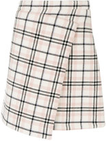 Carven checked wrap skirt