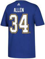 adidas Men's Jake Allen St. Louis Blues Silver Player T-Shirt