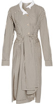 Loewe Striped Cotton-poplin Shirt Dress - Cream