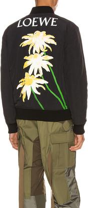 Loewe Daisy Bomber Jacket in Black | FWRD