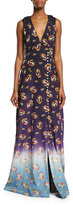 Marc Jacobs Victorian Grunge Sleeveless Maxi Dress, Navy