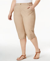 Lee Platinum Plus Size Relaxed Twill Skimmer Shorts