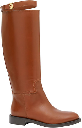 Burberry Redgave Leather Knee Riding Boots