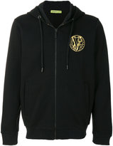Versace embroidered logo hoodie