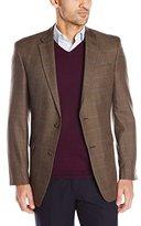 Tommy Hilfiger Men's Brown Plaid Sport Coat