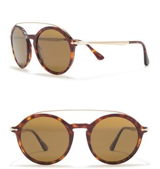 Persol Polarized 51mm Saratoria Round Sunglasses