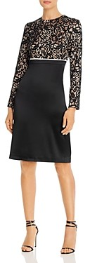 Tory Burch Lace Color-Blocked Dress