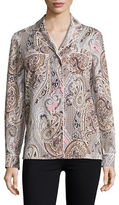 Tommy Hilfiger Button Front Paisley Shirt