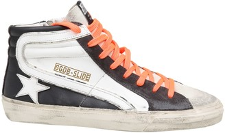 Golden Goose Slide White And Black Sneakers