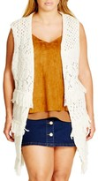 City Chic Plus Size Women's Cocoon Vest