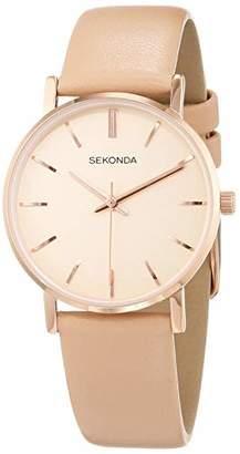 Sekonda Womens Analogue Classic Quartz Watch with Leather Strap 2886