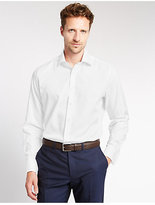 M&S Collection 2in Longer Pure Cotton Tailored Fit Shirt