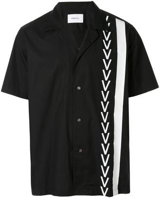 Ports V Zig-Zag Striped Short-Sleeved Shirt