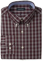 Nautica Men's Tartan Plaid Button-Down Collar Dress Shirt
