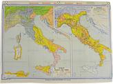 Rejuvenation Mid-Century Denoyer-Geppert Map Book of Italy c1960s