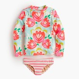 J.Crew Girls' rash guard bikini set in cactus floral