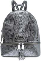 MICHAEL Michael Kors Metallic Textured Leather Rhea Backpack