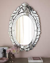 Horchow Ernhart Oval Venetian-Style Mirror