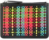 Paul Smith interlaced top zip purse