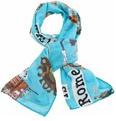 Girl's Adri & Sara 'This Is Rome' Cotton & Silk Scarf