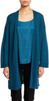 Eileen Fisher Organic Linen/Cotton Bracelet-Sleeve Kimono Cardigan
