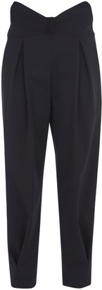 RED Valentino Rear Zip Cropped Trousers